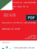 Uso Legal de La Informacion - Alumnos