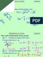 Mechanics 1 Applications of Vectors 200910