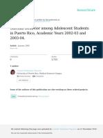 Suicidal Behavior Among Adolescent Students