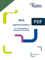 Applicant Guidance - F1 Recruitment 2018 (1)
