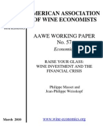 American Association of Wine Economists - Wine Investment and the Financial Crisis