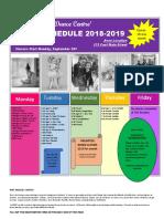 Avon 2018-19 Schedule