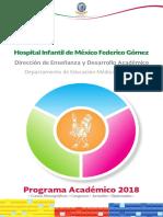 HIMFG Programa Academico 2018