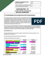 3. Actividad Nro. 12 Analisis Financiero