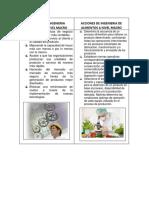 Acciones de Ingenieria Industrial de Alimentos a Nivel Macro