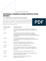 Defining Common Exam Instruction Words