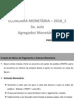3a. aula -  Agregados Monetários