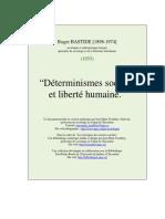 Roger Bastide - Déterminismes sociaux et liberté humaine.pdf