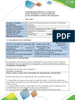 Guía de Actividades y RTec. Investigacion - Actividad 3 Diagnosticar y Caracterizar El Problema de Investigación