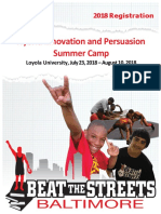 2018 Summer Innovation and Persuasion Camp ,  Loyola University, Grades 9-12