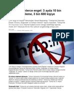 Türkiye'de Internet Özgürlüğü