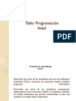 Taller p Lineal