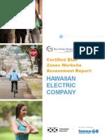 certified blue zones worksite assessment report heco 12 29 2015