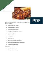 Bahan Yang Diperlukan Dalam Membuat Resep Ayam Bakar Padang Spesial