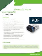 TL-WN725N V2 Datasheet