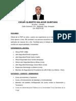Curriculum Vitae Cesar Alberto Salazar Quintana
