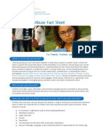 Child Sexual Abuse Factsheet