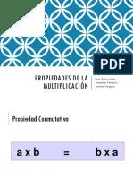 Propiedades de La Multiplicación (1)