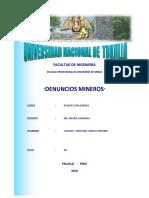 DENUNCIO MINERO