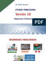 Sesión 10 - Regimenes Tributarios