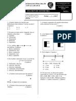 Examen Bimestral I Cuarto Grado 2017 - GEOMETRÍA