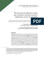 Decoloracion de Efluentes Textiles - Alcachofa