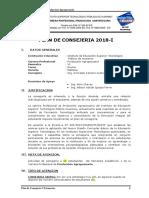 Plan de Consejeria 2018-I