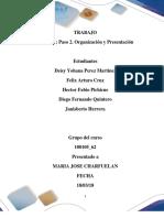 Formato Entrega Trabajo Colaborativo – Paso 2 Organizacion y Planeación Final