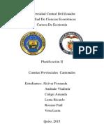 CUENTAS CANTONALES Y CUENTAS PROVINCIALES