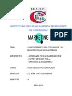MONOGRAFIA COMPORTAMIENTO DEL CONSUMIDOR Y SU RELACION CON EL MERCADOTECNIA.docx