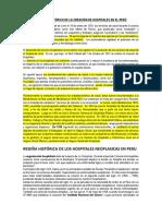 Breve Recuento Histórico de La Creación de Hospitales en El Perú