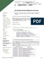 Lista de Exercícios Básicos Em Java - FAESA - C.comp. - Algoritmo I - 2009 42 Paginas