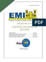 INFORME LAB 6 Control de Liquido