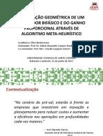 Otimização Geometrica de um separador bifasico