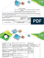 Guia de Actividades y Rúbria de Evaluación - Taller 1. Linea de Tiempo - Reconocimiento de Curso – Fundamentos de Higiene y Seguridad Laboral