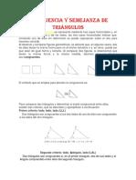 Congruencia y Semejanza de Triángulos