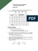 Ejercicios Métodos de Evaluación Sensorial