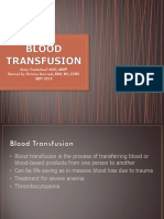 Vanderhoef Class Notes Blood Transfusion