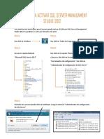 Manual Para Activar SQL Server Managament Studio 2012