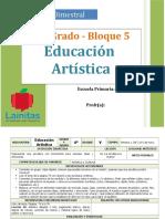 Plan 4to Grado - Bloque 5 Educación Artística
