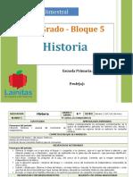 Plan 4to Grado - Bloque 5 Historia.doc
