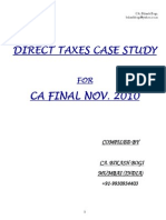 53 Case Study CA Final Direct Taxes Nov 2010