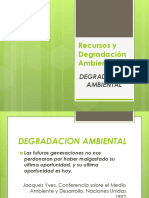 Recursos y Degradación Ambiental