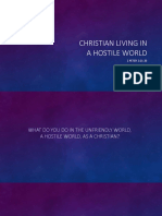 Christian Living in a Hostile World - 1 Peter 2.11-25