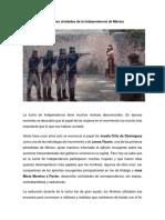 Las Mujeres Olvidadas de La Independencia de México