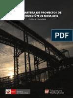 Cartera de Proyectos de Construccion de Mina Marzo 2018