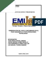 Enmendacion Del Suelo Contaminado en El Pozo Sanandita X-3 Por Operaciones Petroleras.docx