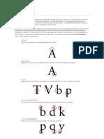 Anatomía de la letra