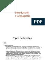 Introducción a la tipografía