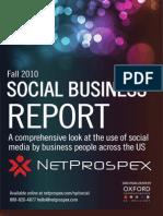 NetProspex Social Report Fall2010